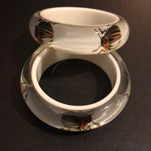 Set of Rara Avis beetle bangles